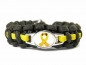 Mobile Preview: Gelbe Schleife Armband-Thin Yellow Line- Bundeswehr Armband-Männer, Frauen, Kinder Armband-Verstellbar-Oliv Drab