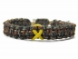Mobile Preview: Paracord Armband Verstellbar-Gelbe Schleife-Yellow Ribbon-Solidarität Soldaten-Awareness Armband-Bewusstsein-Woodland Camo