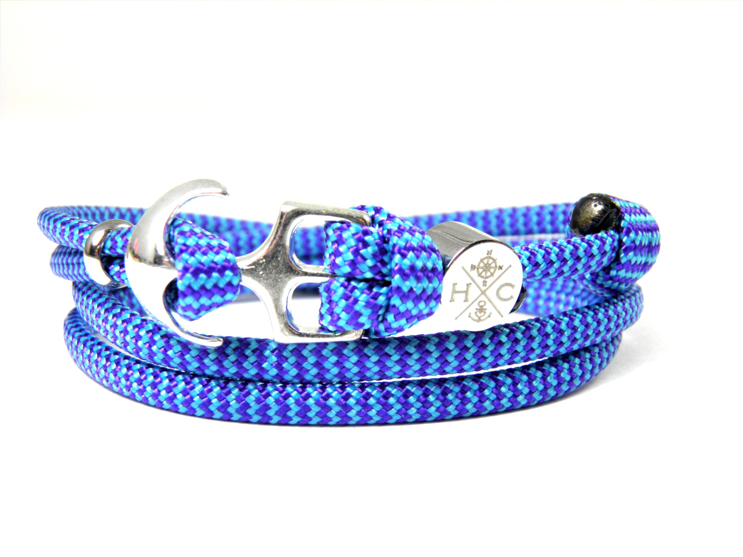 Edelstahl Anker Armband-Maritim aus US Paracord III-Wickelarmband-verstellbar